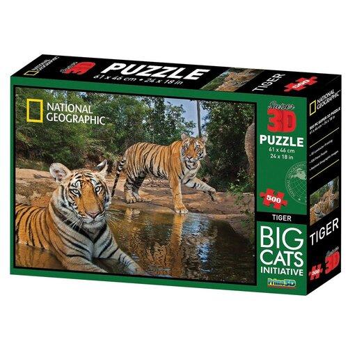 3D puzzle National Geographic tygr, 500 dílků