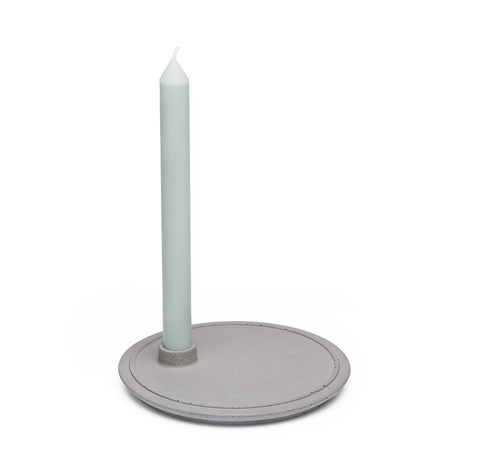 Mensch Made Stojanček na sviečku Candle Holder 1, sivý
