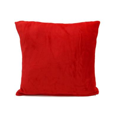 Pernă Micropluș New roșu, 40 x 40 cm