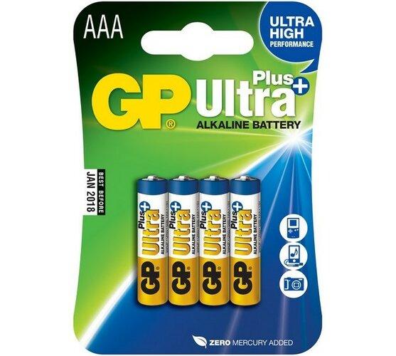 Alkalické baterie, 4 ks, 24AUP LR03 BLISTR/4, GP G
