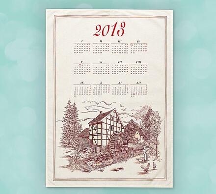 Textilný kalendár Mlyn