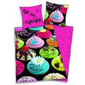 Bavlněné povlečení Cupcake, 140 x 200 cm, 70 x 90 cm