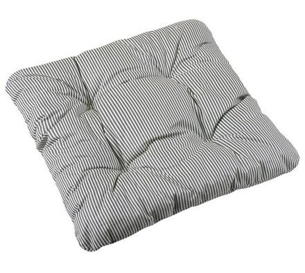 Sedák Adéla šedý proužek, 40 x 40 cm, sada 2 ks