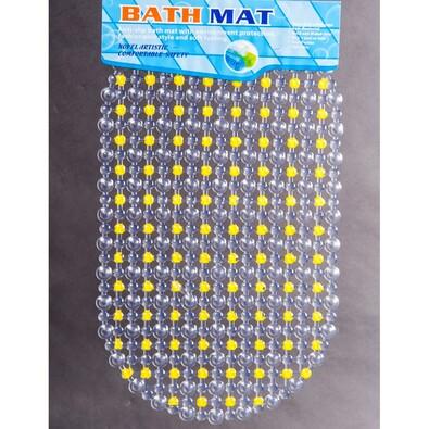 Protiskluzová podložka do vany Doti žlutá, 70 x 40 cm