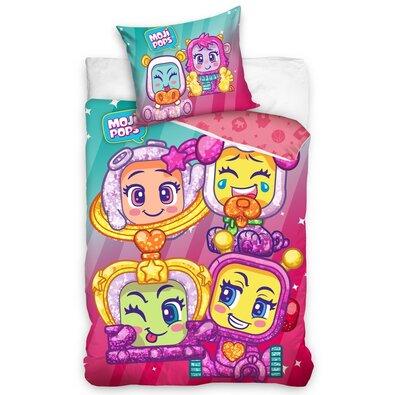 Lenjerie de pat din bumbac pentru copii Moji Pops, 140 x 200 cm, 70 x 90 cm