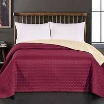 DecoKing Prehoz na posteľ Salice vínová, 240 x 260 cm