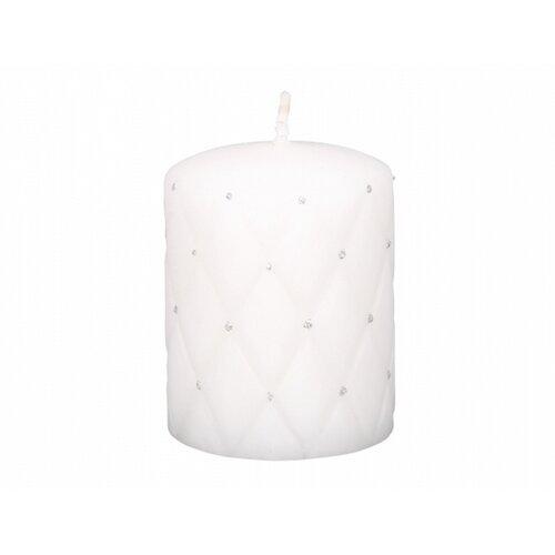 Dekorativní svíčka Florencia d7x10 cm bílá mat