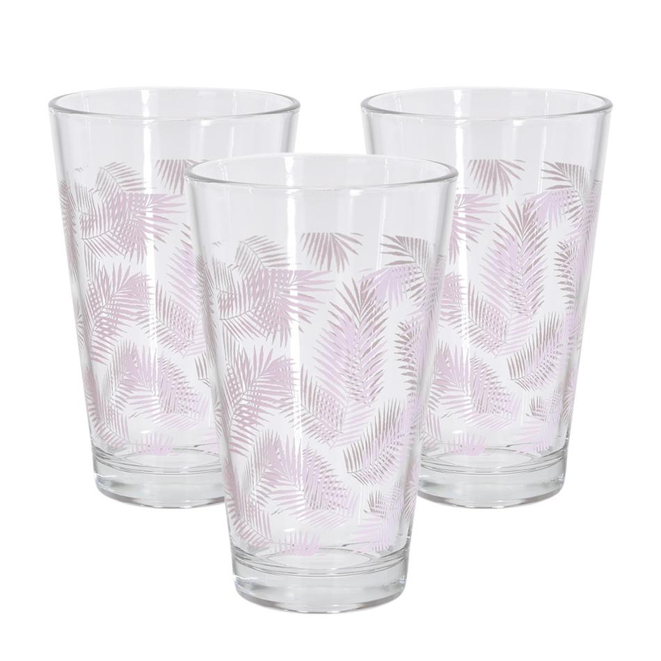 Sada sklenic Summer 300 ml, růžová, 3 ks