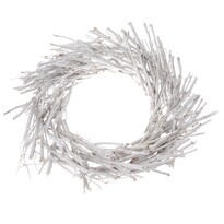 Coroniță decorativă din nuiele, diam. 40 cm, alb