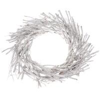 Dekor koszorú vesszőből, átmérő: 40 cm, fehér