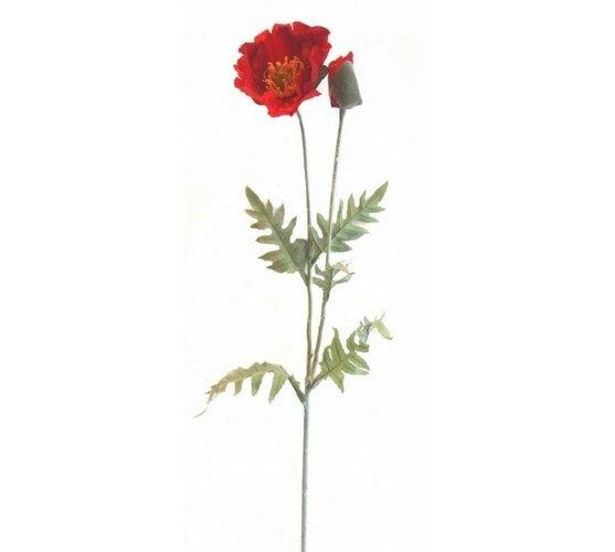 Sztuczny kwiat mak polny 96 cm