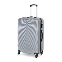 Pretty UP Cestovní skořepinový kufr ABS07 L, šedá