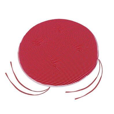 Siedzisko Adela okrągłe gładkie Grochy czerwone, 40 cm