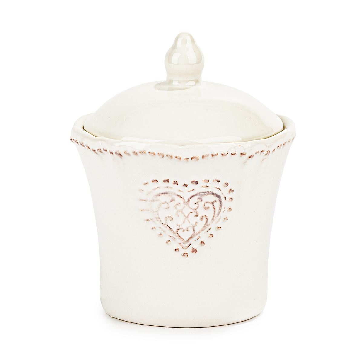 Keramická cukřenka Srdce 9 x 11,5 cm