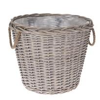 Proutěný košík s uchy Lingen, 42 x 36 x 42 cm