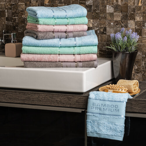 4Home Bamboo Premium ručník mentolová, 50 x 100 cm, sada 2 ks