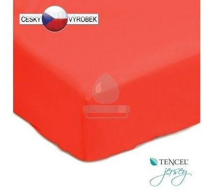 Nepropustné prostěradlo, červené, 90 x 200 cm