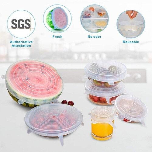 Florina 6-dielna sada silikónových viečok na potraviny