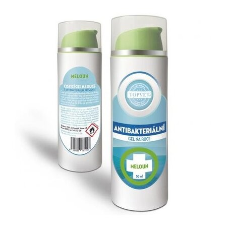 Topvet Antibakteriální gel na ruce Meloun 50 ml