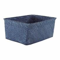 Compactor Ručne pletený úložný košík KITO 30 x 20 x 13 cm, modrá