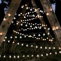 DecoKing Lampki Gwiazdki ciepła biała, 100 LED