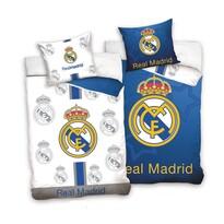 Lenjerie de pat Real Madrid Blue and White, din bumbac, 140 x 200 cm, 70 x 90 cm