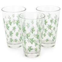 Koopman Sada pohárov Púštny kaktus 300 ml, 3 ks