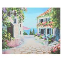 Obraz na plátne Flower alley, 56 × 46 × 2 cm