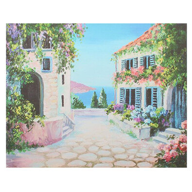 Obraz na plátně Flower alley, 56 x 46 x 2 cm