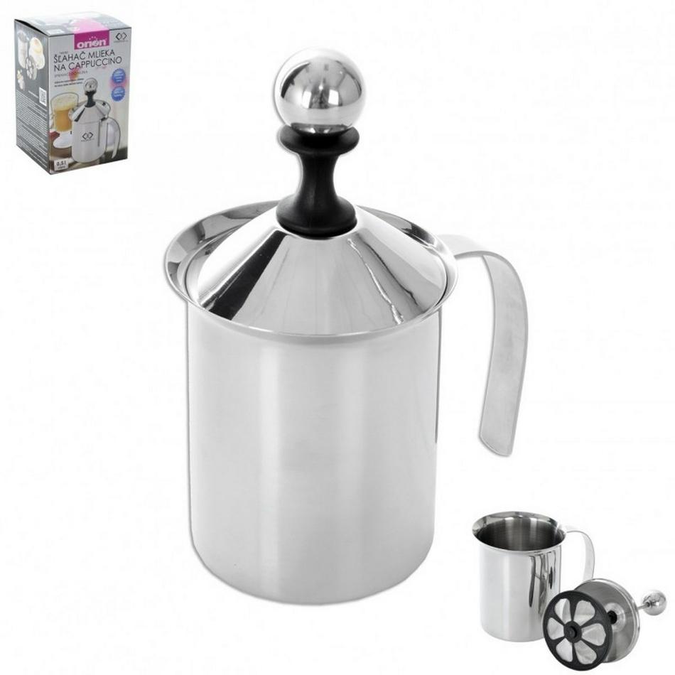 Nerezový šľahač na cappuccino 0,5 l, orion 152564