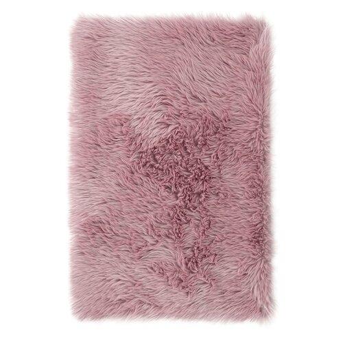 AmeliaHome Kožušina Dokka ružová, 75 x 120 cm
