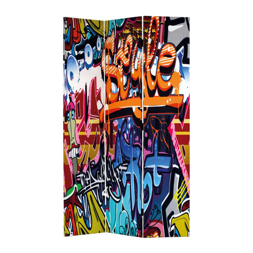 Paravan grafity 3dílný