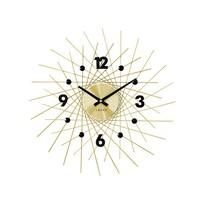 Lavvu LCT1053 Nástenné hodiny Crystal Lines 49 cm, zlatá