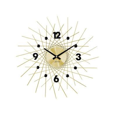 Lavvu LCT1053 Nástěnné hodiny Crystal Lines 49 cm, zlatá