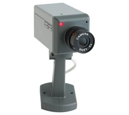Maketa kamery, odstrašující atrapa, šedá
