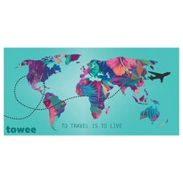Towee rychleschnoucí osuška TRAVEL THE WORLD, 80 x 160 cm