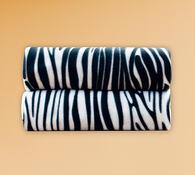 Deky Zebra, 4Home, sada 2 ks, 150 x 200 cm, bílá + černá, 150 x 200 cm