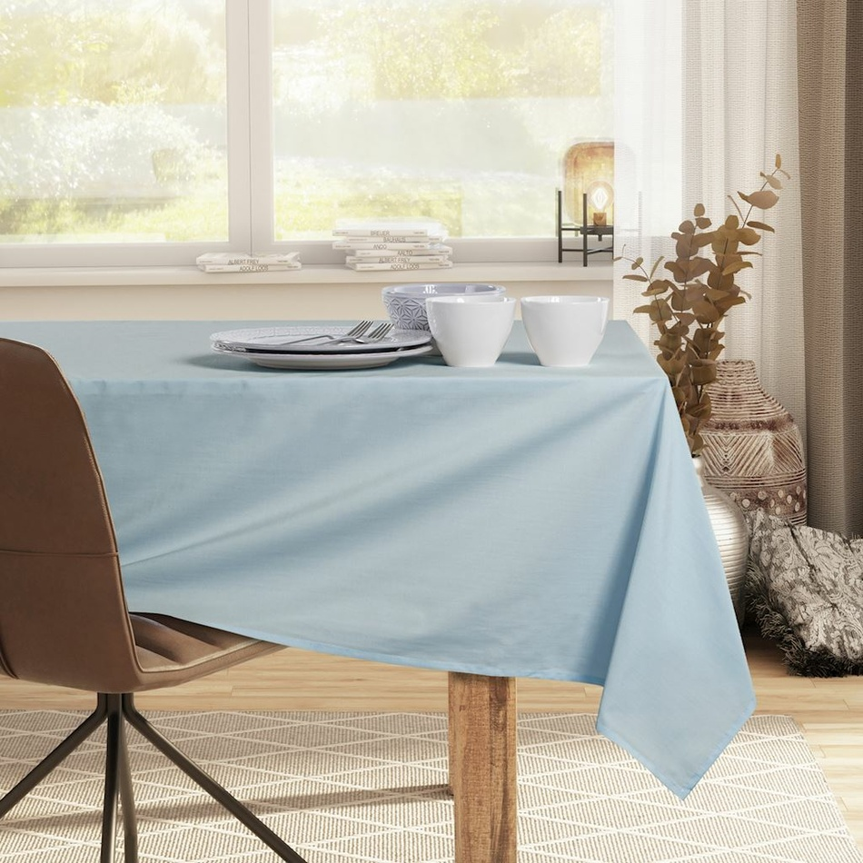 DecoKing Obrus Pure silver blue, 110 x 110 cm