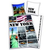 Bavlněné povlečení New York collage, 140 x 200 cm, 70 x 90 cm