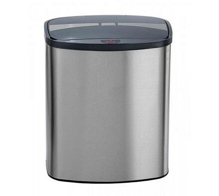 Odpadkový koš Helpmation MINI 8 l, stříbrná