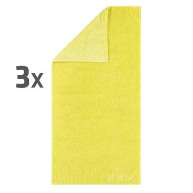 JOOP! ručníky Plaza Doubleface Limone, 50 x 100 cm, sada 3 ks