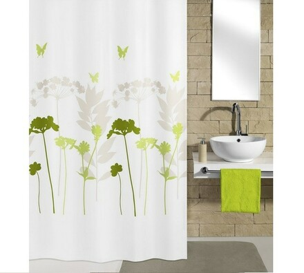 Kleine Wolke sprchový závěs Louka zelená, 180 x 200 cm