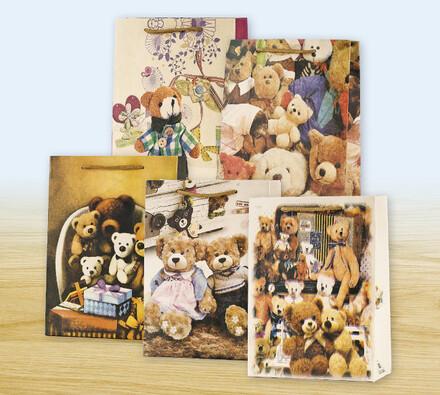 Dárková taška, motiv medvídek, 23 x 17 x 8 cm
