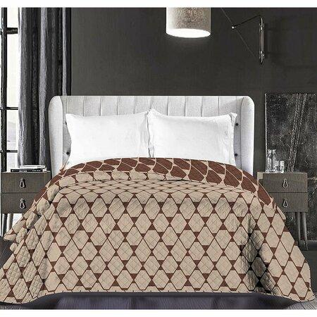 DecoKing Hypnosis Rhombuses ágytakaró, barna, 220 x 240 cm