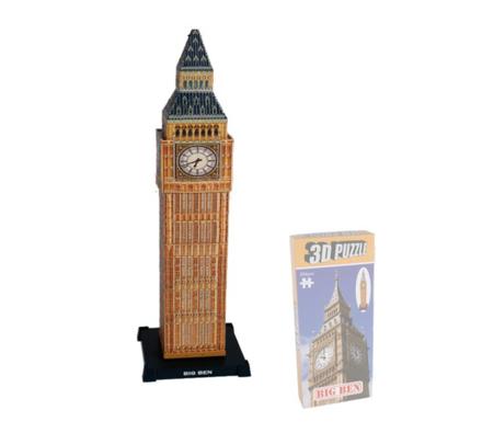 Puzzle 3D Big Ben, 294 dílků, vícebarevná