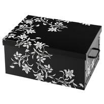 Úložný box Ornament 51 x 37 x 24 cm, černá