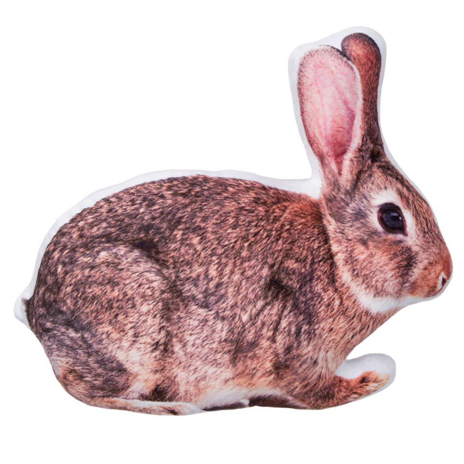 Jahu Tvarovaný 3D vankúšik Zajac, 30 x 40 cm