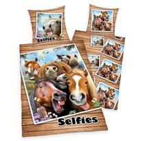 Pościel bawełniana Farm Selfie, 140 x 200 cm, 70 x 90 cm