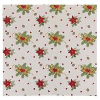 """Obrus świąteczny """"Kokardy"""", 100 x 100 cm"""