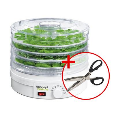 Concept SO-1040 sušička ovoce a bylinek + dárek  nůžky na bylinky